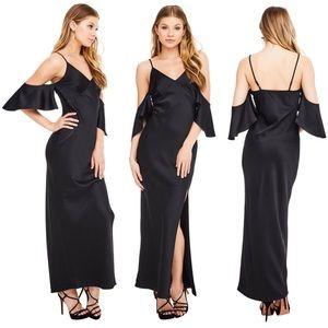 Revolve ASTR Kendra Cold Shoulder Maxi Dress